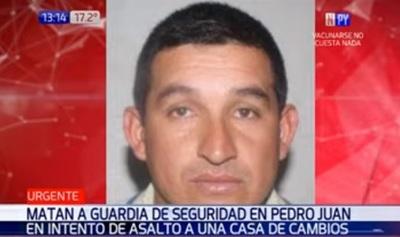 Matan a guardia de seguridad en intento de asalto a casa de cambios