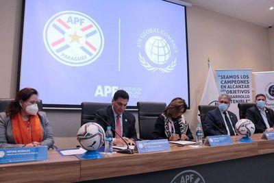 Firma de convenio en la APF