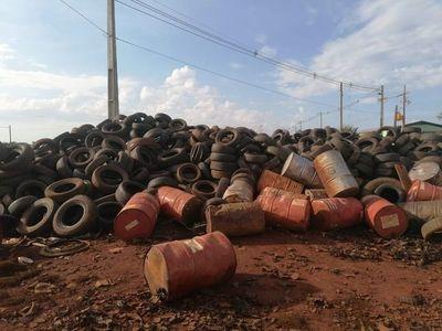 Hernandarias: allanan parque industrial por residuos a la intemperie