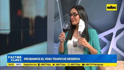Cata de vinos en ABC, Probamos el vino Trapiche reserva