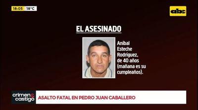 Asalto fatal en Pedro Juan Caballero