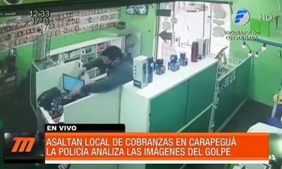 Así asaltaron un local de cobranzas en Carapeguá