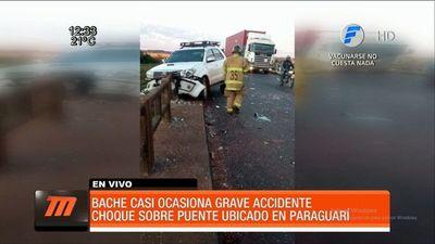 Un bache ocasiona accidente de tránsito en Paraguarí