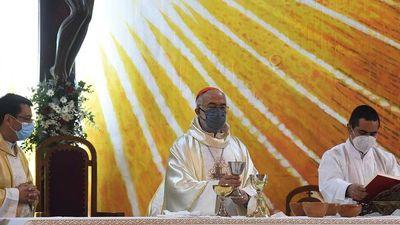 """""""Sufría a la distancia con el pueblo paraguayo"""", afirmó el cardenal López"""