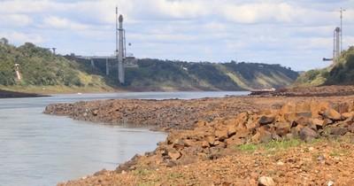 La Nación / Las condiciones de navegabilidad afectó a las exportaciones de soja
