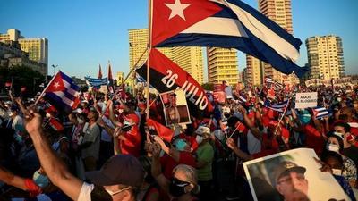 Simpatizantes pro-gobierno se manifestaron en La Habana