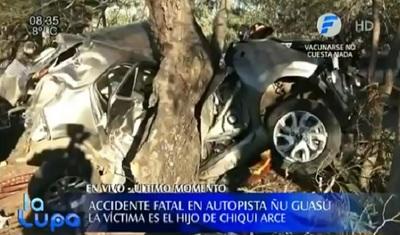 """Fallece el hijo de """"Chiqui"""" Arce en accidente sobre la autopista Ñu Guasú"""
