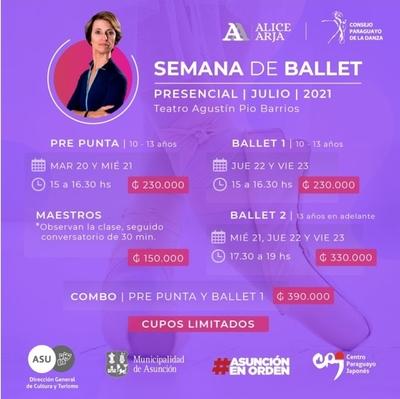 Semana del ballet con la maestra Alice Arja