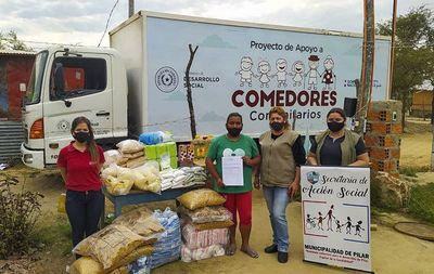 Entregaron 32 toneladas de alimentos a organizaciones comunitarias