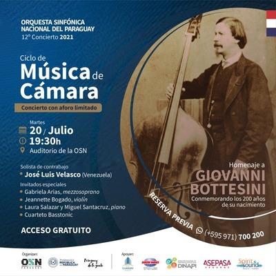 Invitan al gran concierto en homenaje al célebre Giovanni Bottesini