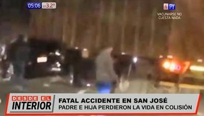 Padre e hija mueren en choque sobre ruta PY02