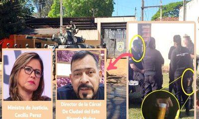 """Director de la cárcel de Ciudad del Este vende """"de todo"""" y farrea con las celadoras dentro del penal – Diario TNPRESS"""
