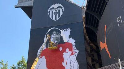 Carlos Lobo Diarte ya tiene su mural en el Mestalla