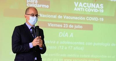 Vacunarán contra el Covid-19 a adolescentes con factores de riesgo este viernes 23