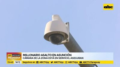 Millonario asalto en Asunción: Cámara de la zona está en servicio, aseguran
