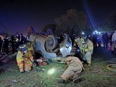 Automovilista muere en violento accidente en km 12 de la Ruta PY02