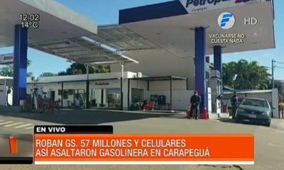 Millonario asalto a gasolinera en Carapeguá