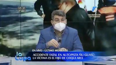 Indignación contra Telefuturo por faltar a la intimidad de Chiqui Arce