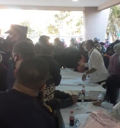 Incidentes en Minga Guazú y Hernandarias por falta de vacunas anticovid