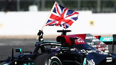 Hamilton triunfa en casa