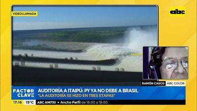 Auditoría a Itaipú: informe concluye que Paraguay ya no debe a Brasil y que tratado se violó