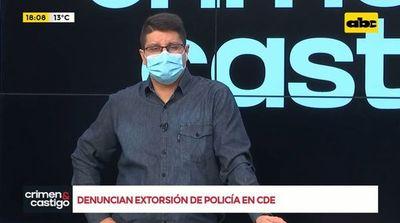 Denuncian extorsión de policía en CDE