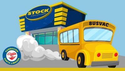 Busvac: la iniciativa de supermercados Stock para el traslado gratuito a vacunatorios