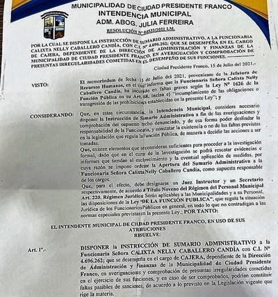 Descubren evidencias sobre escandalosa caja paralela en administración Godoy