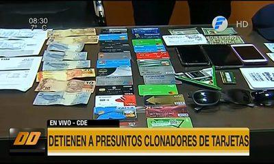 Detienen a presuntos clonadores de tarjetas en Ciudad del Este