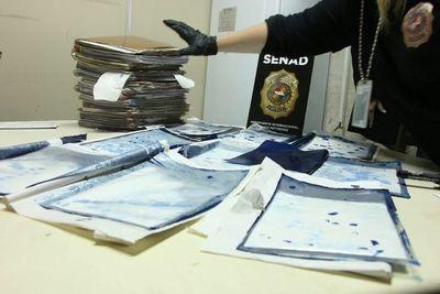Interceptan pequeña carga de cocaína con destino a Italia