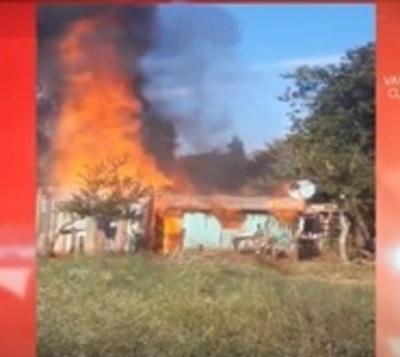 Familia lo pierde todo durante incendio de su vivienda