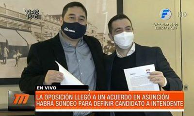 Logran unidad opositora en Asunción para las municipales