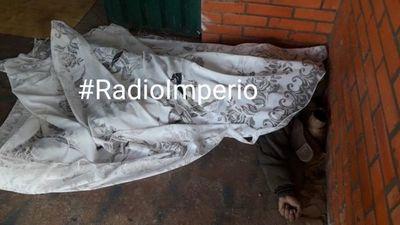 Indigente falleció a causa de hipotermia
