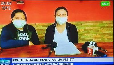 Hijas de Félix Urbieta reclaman el desinterés de activistas argentinos por secuestrados