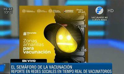 """Habilitarán """"semáforo de la vacunación"""""""