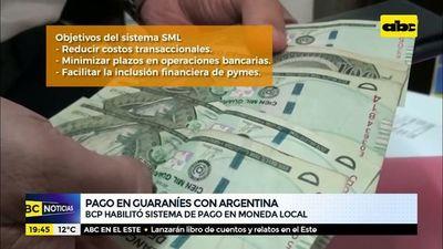 Pago en guaraníes con Argentina