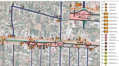 Implementarán nuevos desvíos provisorios en Caaguazú para avance de obras en la ruta