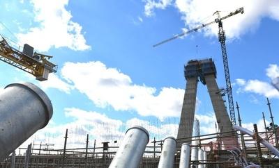 Culminó la instalación de los tubos de montaje del Puente de la Integración