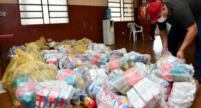 Más de 3.000 kilos de alimentos fueron entregados en Alto Paraná