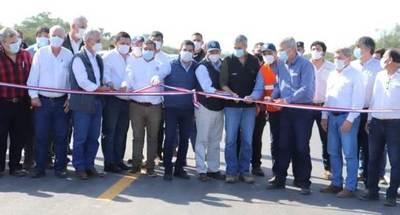 Autoridades inauguraron nuevo tramo asfaltado de la Ruta Bioceánica de Loma Plata