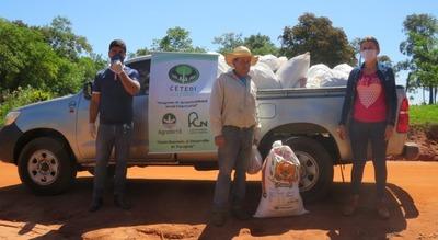 Agrofértil entregó víveres en San Pedro