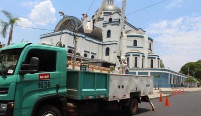 ANDE refuerza el sistema eléctrico en la ciudad de Caacupé y alrededores