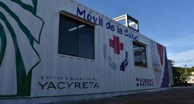 EBY entregó dos consultorios móviles con tres terapias intermedias a Salud