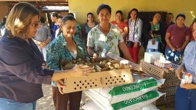 Familias rurales inician producción de aves