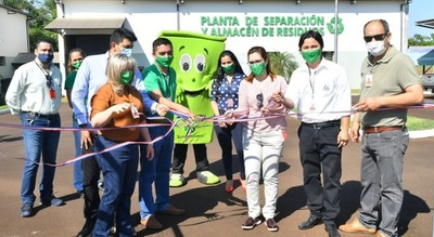 Habilitan jardín ecológico en la planta de reciclaje de Itaipu