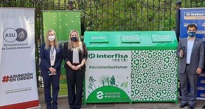 Interfisa Banco apoya al Reciclaje Inclusivo e Instala un Ecopunto®