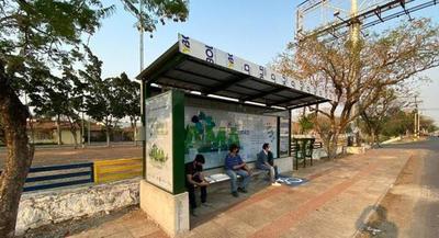Instalarán 30 refugios de pasajeros con criterios de sustentabilidad