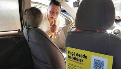 Taxis de Asunción ya aceptan pagos con tarjeta mediante tecnología QR