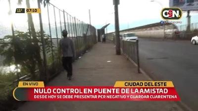 CDE: Nulo control en la frontera