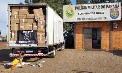 Decomisan 400 cajas de CIGARRILLOS en Brasil